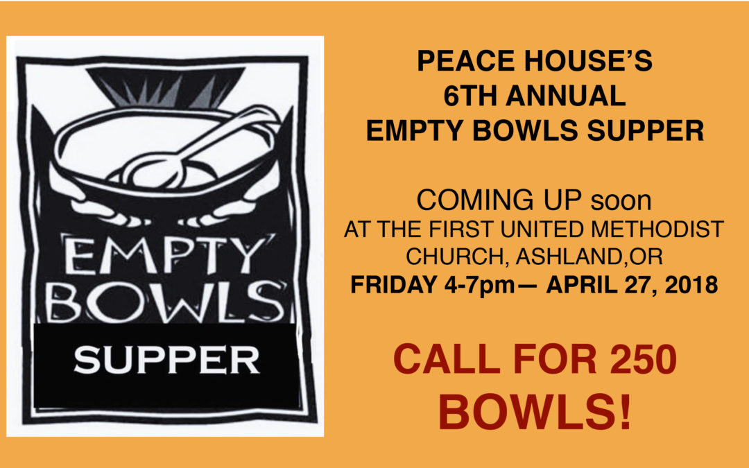 Call for Empty Bowls: Jackson County